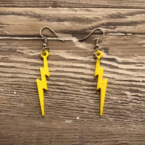Jewelry Yellow Lightning Bolt Earrings Poshmark